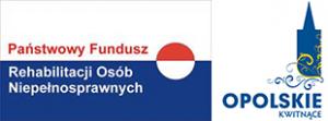 Logo PFRON i Urzędu Marszałkowskiego Województwa Opolskiego