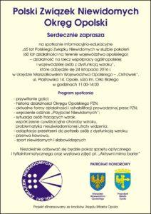 Plakat spotkania 24.11.2016 r.