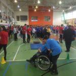 Zawody na hali sportowej